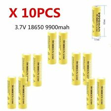 10 X 3.7V 18650 9900mah Li-ion Rechargeable Battery For LED Flashlight Torch SL