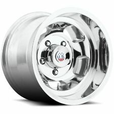 15x10 US Mags U101 INDY Polished Wheels 5x5.5 (-50mm) Set of 4 CAPS SEPARATE