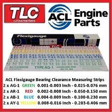 Flexigauge Plastigauge AR-1 RED x 2 AG-1 GREEN x 2 AB-1 BLUE x 2 AY-1 YELLOW x 2