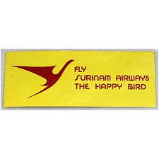 Fly Surinam Airways - The Happy Bird - Sticker - Good Condition