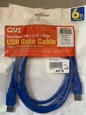 QVS USB Data Cable 3.0/3.1 5Gbps A to A 6 Ft Male to Male