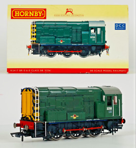 HORNBY 00 GAUGE - R2417 - CLASS 08 DIESEL SHUNTER 3256 BR GREEN WASP STRIPES