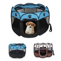 Portable Folding Pet tent Dog House Cage Dog Cat Tent Playpen Puppy Kennel E B9H