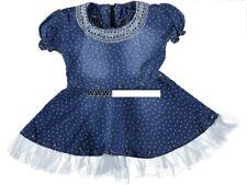 Mädchen Sommer Jeanskleid Kleid Gr. 86, 92, 98, 104, 110