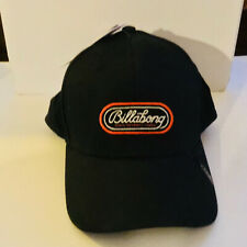 "NEW BILLABONG Men's S/M  Hat Walled Stretch Stealth Black ""Since Seventy Three"""