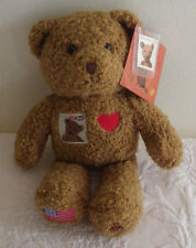 "USPS 100 Years of Bears 37 Cent Stamp Brown Teddy 10"" Stuffed Animal Plush"