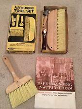 Warner Vintage Wallpaper Hanging Set Tools 1970's Home Decor Industrial Tools