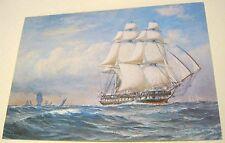 Ships The Frigate Unicorn 46 Guns Painting L6-SP.5202 J Arthur Dixon - unposted