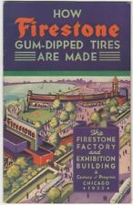 Firestone Gum-Dipped Tires Chicago 1933 Century of Progress Exposition Brochure