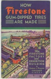 Firestone Gum-Dipped Tires Chicago 1933 Century of Progress Exposition Brochure