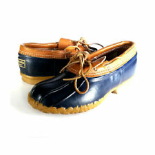 VTG LL BEAN Boots Womens 8 Navy Blue Vintage USA Duck Shoes  *EXCELLENT* Size 8