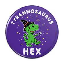 Tyrannosaurus Hex T-Rex Wizard Witch Funny Humor Pinback Button Pin Badge