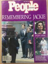 PEOPLE WEEKLY MAGAZINE JUNE 6 1994 REMEMBERING JACKIE KENNEDY 1929 - 1994 - EUC
