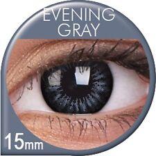 Farbige Kontaktlinsen Big Eyes Evening Grey grau schwarze Linsen Große Augen