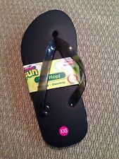 New w/tags Darice Black Kids Flip Flops Foam 1 Pair Size XXS