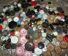 Vintage Sewing Buttons LOT Goodyear Rubber Czech Glass Celluloid Vegetable Ivory