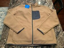 Columbia Men Rugged Ridge Fleece Jacket Tan Brown Zip Size XXL 2XL