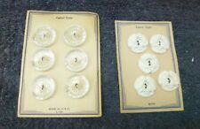 New listing Exquisit Latest Style Paramount Lot of Buttons On 4 Cards White Made in Usa