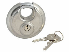 ABUS 70mm Security Stainless Steel Disc Padlock Hardened Gate/Door ABU2370C