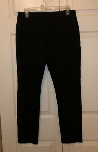 Eileen Fisher Medium EUC Black Ankle Length Leggings Viscose Nylon Spandex