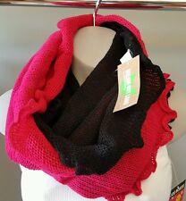 Scarf Knit Neck Warmer Black Dark Pink Trendy Hip Selena Gomez Gift Idea