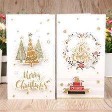 8 Pcs Vintage Christmas New Year Greeting Cards with Envelopes Set