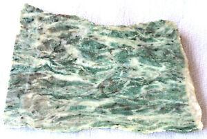 Marble Slab -  Green - White - 155 Grams - California