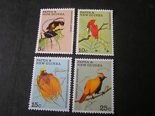PAPUA NEW GUINEA, SCOTT #301-304(4), COMPLETE 1970 BIRDS OF PARADISE ISSUE MNH