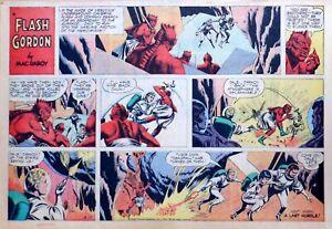 Flash Gordon by Mac Raboy - large half-page color Sunday comic - April 17, 1966