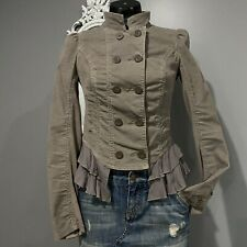 Size 2 FREE PEOPLE Victorian Ruffle Corduroy Slightly Cropped Jacket