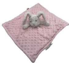Blankets and Beyond MINKY pink bunny rabbit lovey plush security blanket