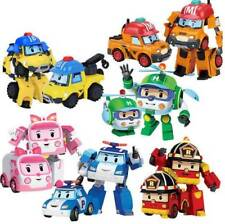 4Pcs/Set Robocar Poli Ambe Roy Helly Transformers Robot Car Toys For Kids Gift