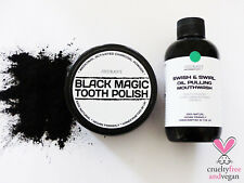 50ml Charcoal Charcoal Tooth Polish + 100ml Mint Activated Charcoal Oil Pulling