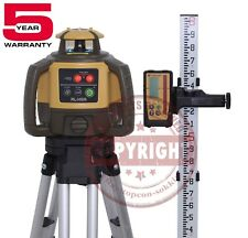 TOPCON RL-H5A RECHARGEABLE SELF-LEVELING ROTARY SLOPE LASER LEVEL,RB, GRADE,10TH