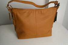 LADIES WOMENS MEDIUM BROWN COLORED LARGE LEATHER PURSE MARCO AVANE NWT $200.00