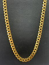 18ct 18k Yellow Gold Italian Curb Link Chain Necklace 14.3 Grams 60cm. Brand New