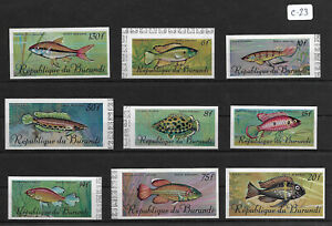 SMT, Burundi, Fishes set of 9, Mi nr 359/67, imperf, MNH