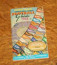 1968 PEEK SIZE FOOTBALL GUIDE VEST POCKET PAPER BOOK BIG 8 MISSOURI VALLEY TULSA