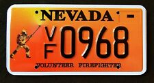 "NEVADA "" FIREFIGHTER - FIRE FIGHTER "" RARE "" 2008 NV Specialty  License Plate"