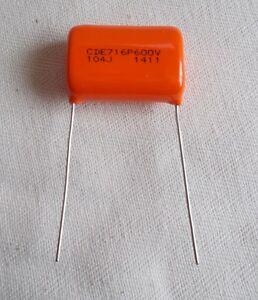Orange Drop® Capacitor, Polypropylene Film/Foil, CDE 716P (.001 µF-.22 µF) 600V