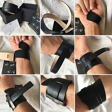 LUXURY BRAND URSUL MADE IN PARIS  MEN'S LEATHER ARM BAND SPARTIATE  WRAP CUFF