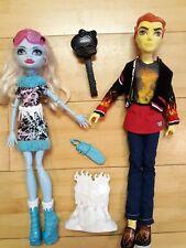 Monster High Heath Burns & Abbey Dolls Art Class & Home Ick Dolls