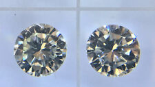 0.38ctw 3/8ctw 3.75mm Loose Round Diamond Pair VVS2 J/K We can set in studs.