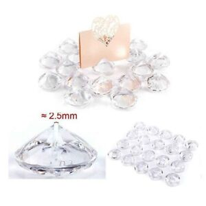 20 Place Card Holders Cards Christmas Wedding Table Bauble Diamond Crystal Clear