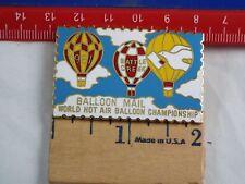 HOT AIR BALLOON LAPEL PIN BALLOON MAIL 1981 WORLD HOT AIR CHAMPIONSHIP