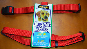 "Petmate Adjustable Dog Harness Size Large 20""-28"" RED"