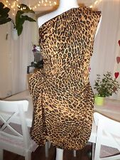 River Island Tigre Leopardo Stampa Festa Smart Coctail Sexy Mini Abito-UK 10