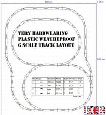More details for garden g scale 45mm gauge rail plastic railway track layout battery steam train
