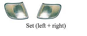 Audi 100 C4 White Turn Signal Light Set (left + right) 1991 - 1994 Corner lights