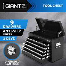 Giantz 9 Drawer Tool Box Storage Chest Cabinet Trolley Organiser Toolbox Boxes